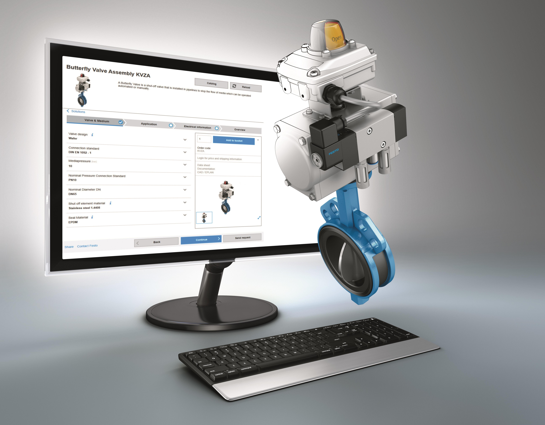 Festo configurator for process valve units