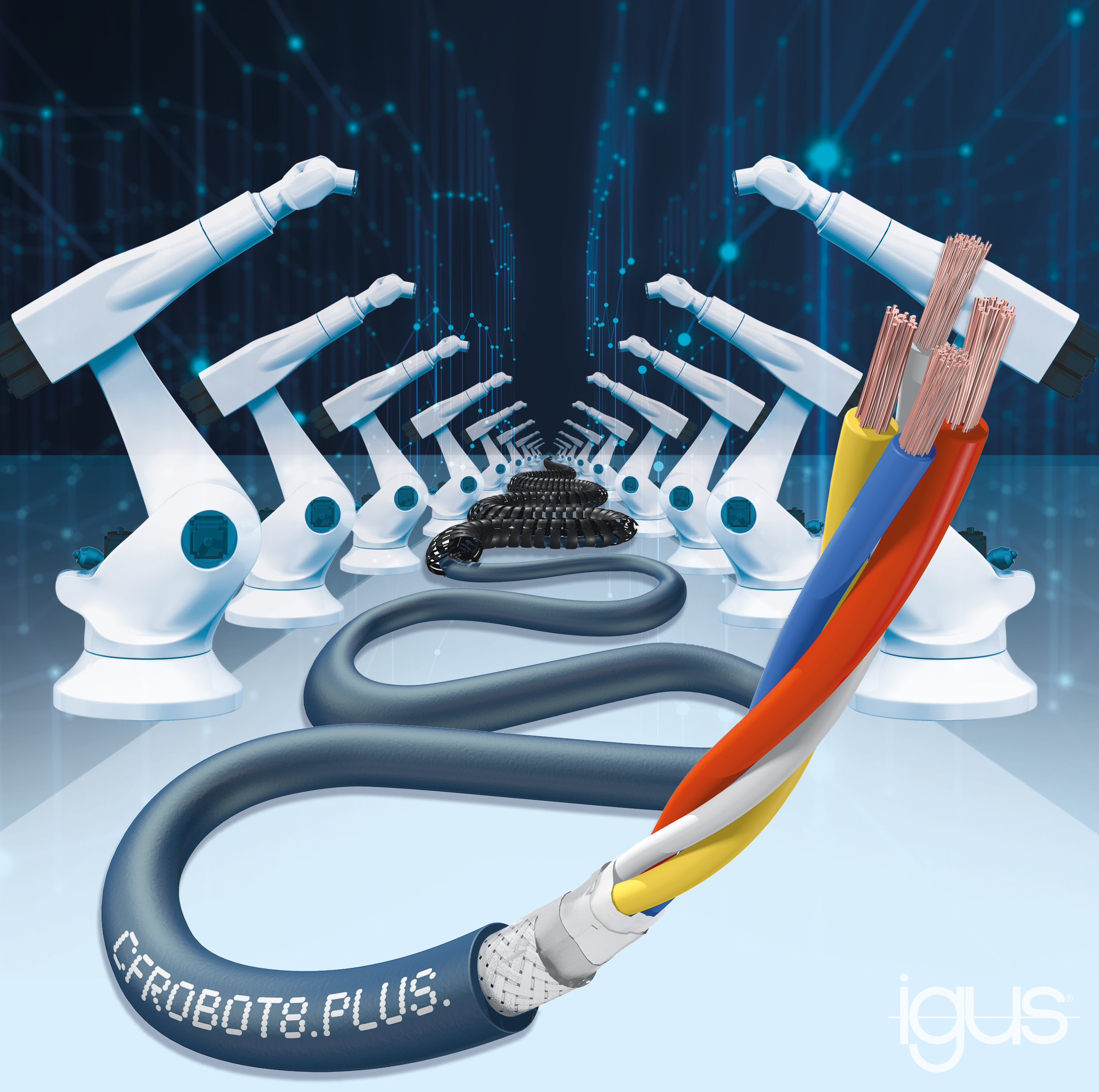 igus ethernet robot cable
